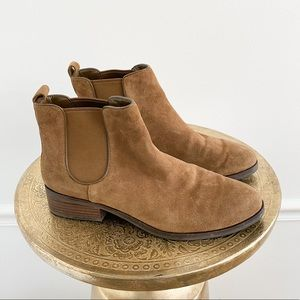 Cole Haan Suede Leather Chelsea Ankle Boots